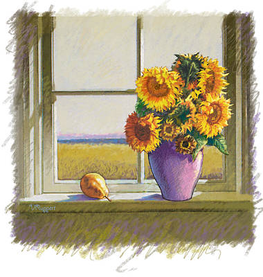 Sunflowers Print by Valer Ian