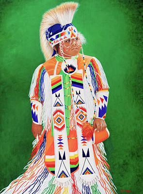 Soaring Painting - Sungila Sapa by Lynn Morgan -                            L L Morgan Art