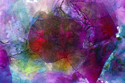 Pearlescent Mixed Media - Sunken Ruby by Don  Wright