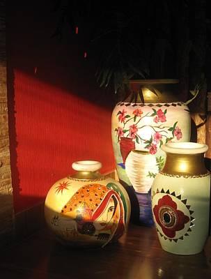 Sunlight On Pots Ceramic Art - Sunlight On Pots by Xafira Mendonsa