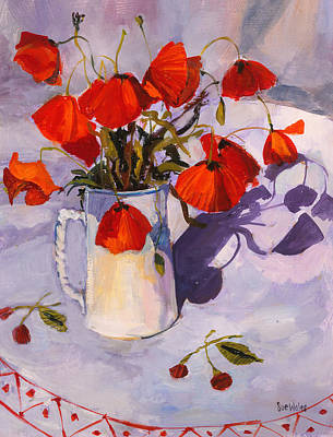 Sunlit Poppies Print by Sue Wales