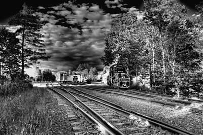 Train Station Photograph - Sunlit Rails by David Patterson