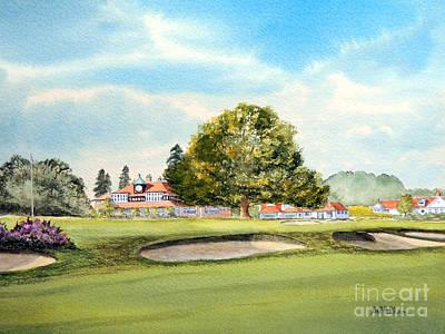 Sunningdale Golf Course 18th Green Original by Bill Holkham