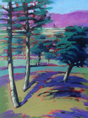 Pine Tree Painting - Sunny Afternoon by Paul Powis