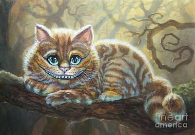 Sunny Cheshire Cat Print by Irina Effa