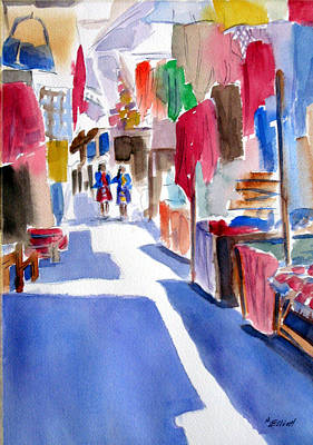 Peru Painting - Sunny Day At The Market by Marsha Elliott
