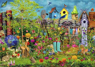 Sunny Garden Delight Print by Aimee Stewart