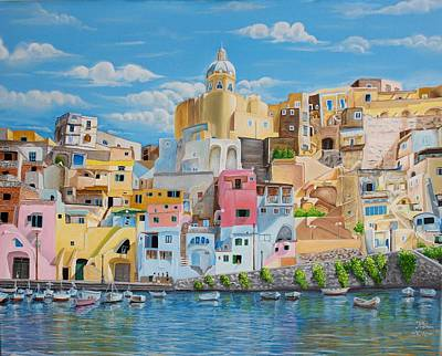 Sunny Noon In Italy Print by Kishan Patel