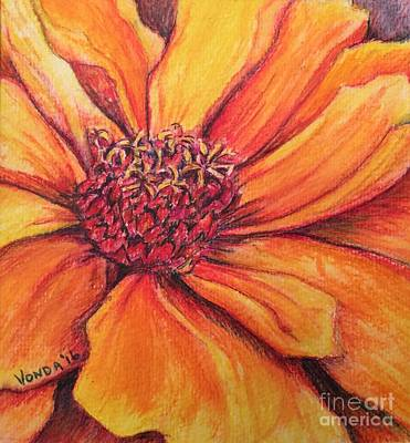 Inktense Drawing - Sunny Perspective by Vonda Lawson-Rosa