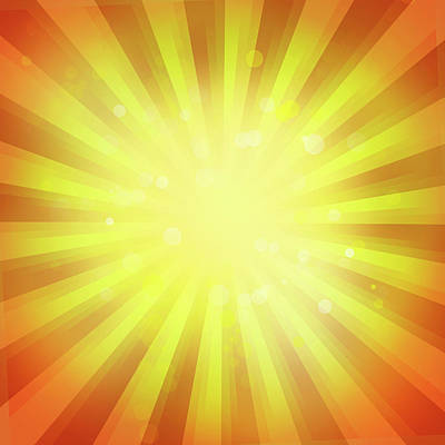 Burst Digital Art - Sunny Rays by Les Cunliffe
