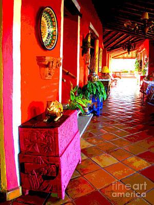 Sunny Veranda By Darian Day Print by Mexicolors Art Photography