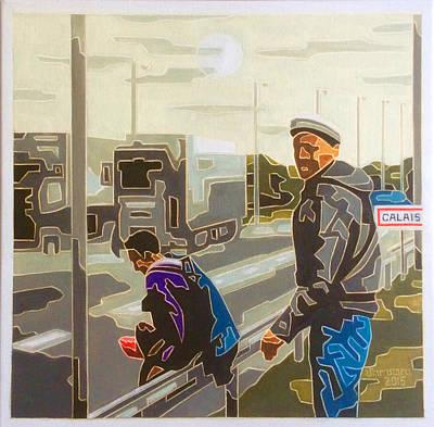 En Route Painting - Sunrise In Calais by Varvara Stylidou