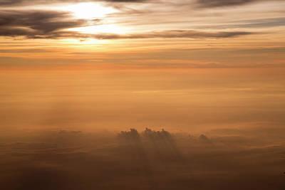 Rays Photograph - Sunrise Above Clouds by Hitendra SINKAR