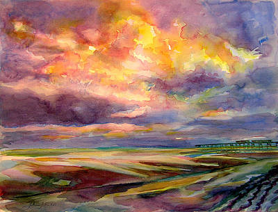 Painting - Sunrise And Tide Pool by Julianne Felton