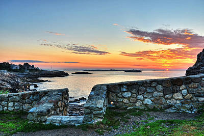 Sunrise At Castle Rock Marblehead Ma Print by Toby McGuire