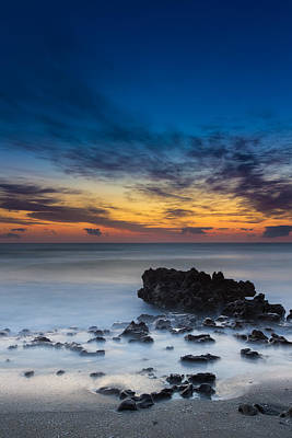 Vertical Photograph - Sunrise At Coral Cove Park In Jupiter Vertical by Andres Leon