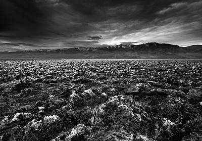 Sunrise At Devil's Golf Course, Death Valley, Deat Print by David Kiene