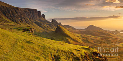 Scotland Photograph - Sunrise At Quiraing, Isle Of Skye, Scotland by Sara Winter