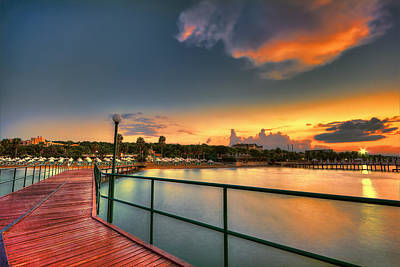 Colorful Photograph - Sunrise At The Pier by Nadia Sanowar