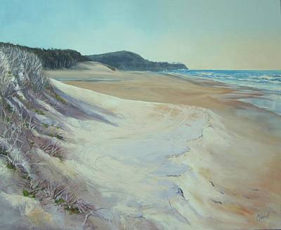 Painting - Sunrise Beach And Lions Head Noosa Heads Queensland by Chris Hobel