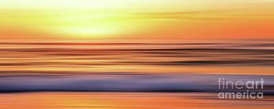 Abstract Beach Landscape Digital Art - Sunrise Bliss Panorama By Kaye Menner by Kaye Menner