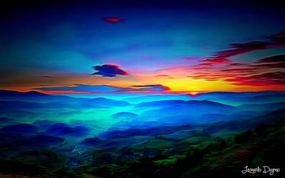 Atmospheric Digital Art - Sunrise - Da by Leonardo Digenio