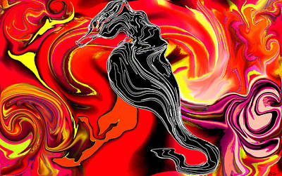 Dramatic Digital Art - Sunrise For All The Dark Horses Of This World by Abstract Angel Artist Stephen K