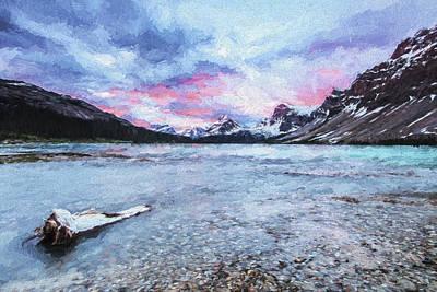 Bow Lake Digital Art - Sunrise Glow II by Jon Glaser