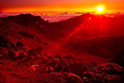 Sunrise Haleakala Print by Harry Spitz