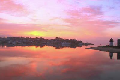 Sunrise Hyannis Harbor Print by Roupen  Baker