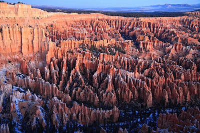 Sunrise In Bryce Canyon National Aprk Print by Pierre Leclerc Photography