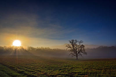 Sunrise In Cades Cove Print by Rick Berk