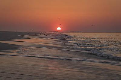 Bursting Photograph - Sunrise In Cape May by Rick Berk