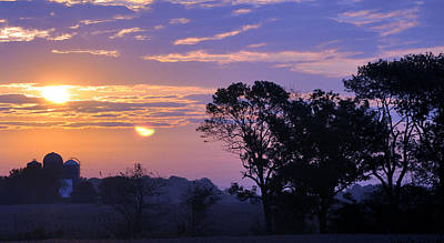 Sunrise In Indiana Print by Brittany H