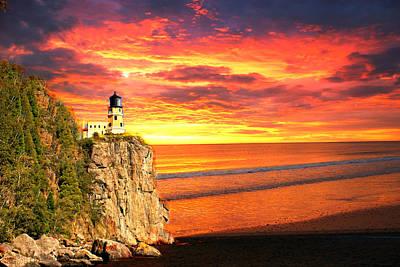 Photograph - Sunrise Lighthouse by Marty Koch
