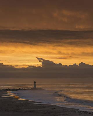 Sunrise- Monterey Bay Print by Bruce Frye