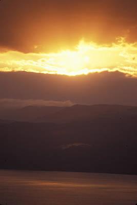 Sunrise Of  Mount Nebo In  Jordan Print by Richard Nowitz