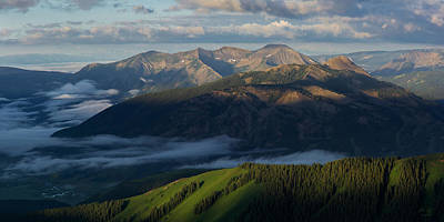Elk Photograph - Sunrise On Mt. Crested Butte And Whetstone Mountain by Aaron Spong