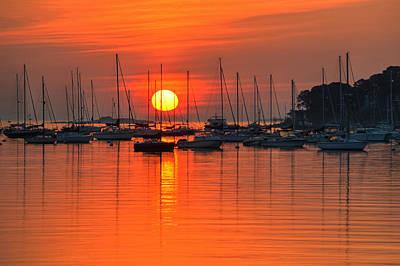 Sunrise On Salem Harbor Salem Ma Print by Toby McGuire