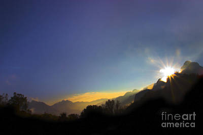 Sunrise On The Cajas Range Of The Andes Print by Al Bourassa