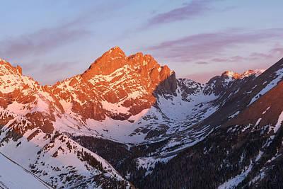 Crestone Photograph - Sunrise On The Crestones  by Aaron Spong