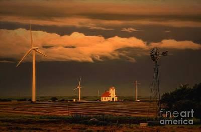 Sunrise On The Prairie Print by Jon Burch Photography