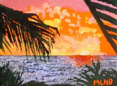 Sunrise Over Guana Bay Print by Margaret Brooks