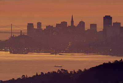 Sausalito Photograph - Sunrise Over San Francisco by Soli Deo Gloria Wilderness And Wildlife Photography