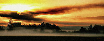 Wa Digital Art - Sunrise Over The Cascades by DMSprouse Art