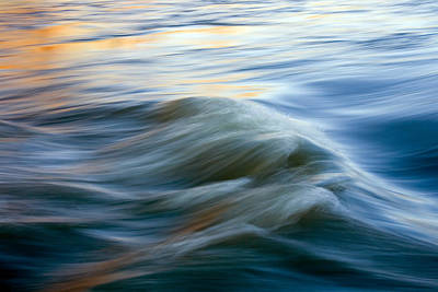 Wave Photograph - Sunrise Ripple by Mike  Dawson