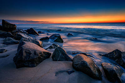 Sunrise, Sandy Hook Print by Rick Berk