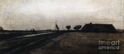Rural Scenes Drawing - Sunrise by Vincent Van Gogh