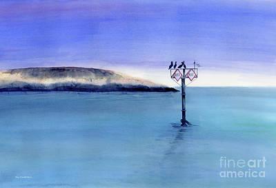 Pelican Painting - Sunrise Watchers by Amy Kirkpatrick