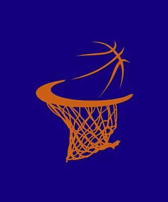 Suns Basketball Hoop Print by Joe Hamilton